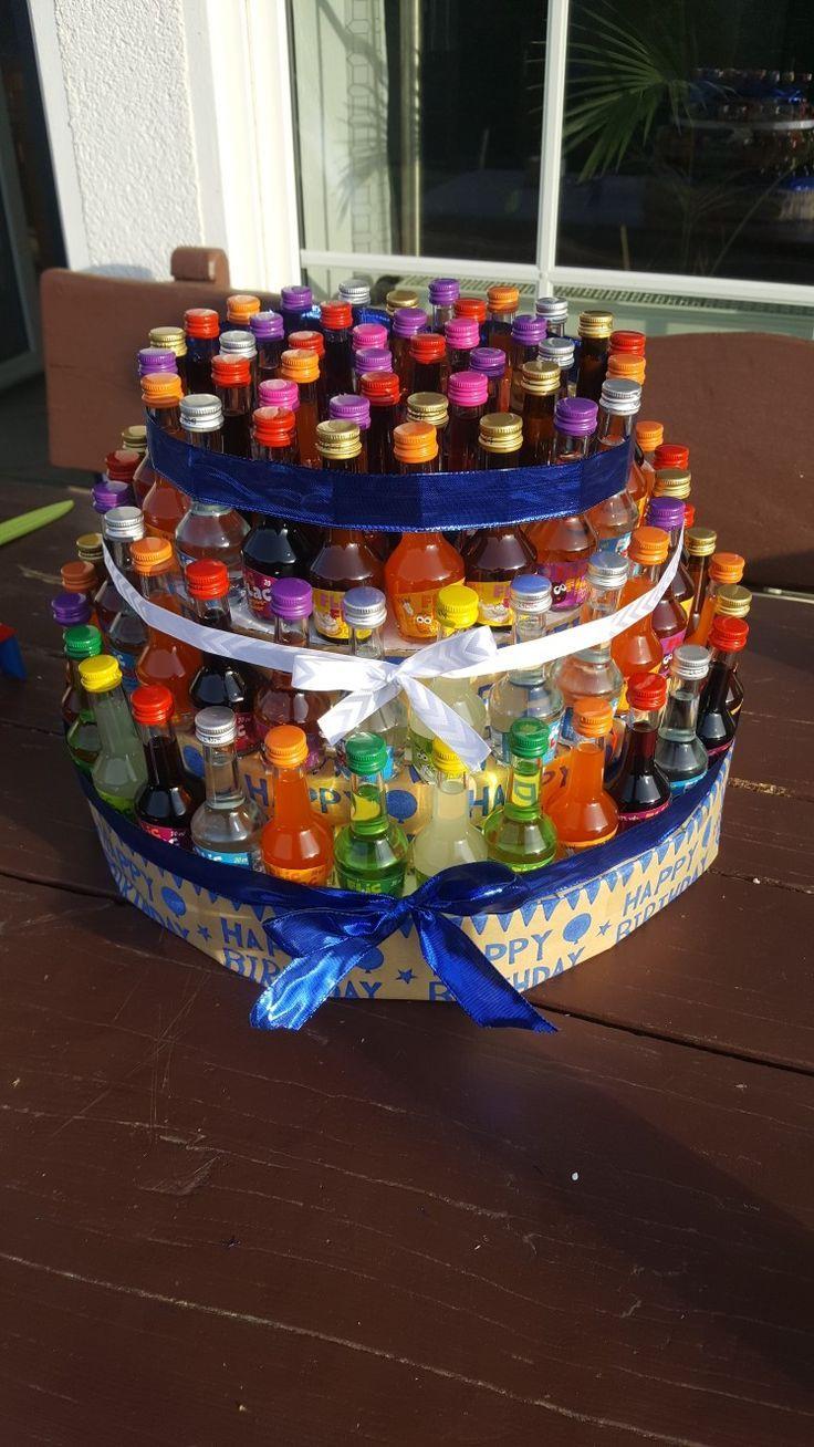 Schnapstorte Zum 18 Geburtstag Geburtstag Geschenke Selber