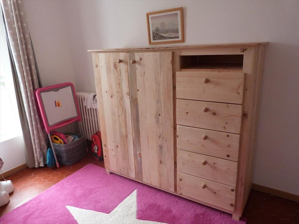 pallet wardrobe with drawers to do pinterest ameublement mobilier de salon et deco. Black Bedroom Furniture Sets. Home Design Ideas