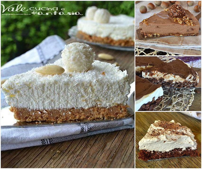 Raccolta di torte fredde facili e veloci una piccola raccolta di torte  fresche alcune anche senza cottura,creme,frutta, nutella a voi la scelta