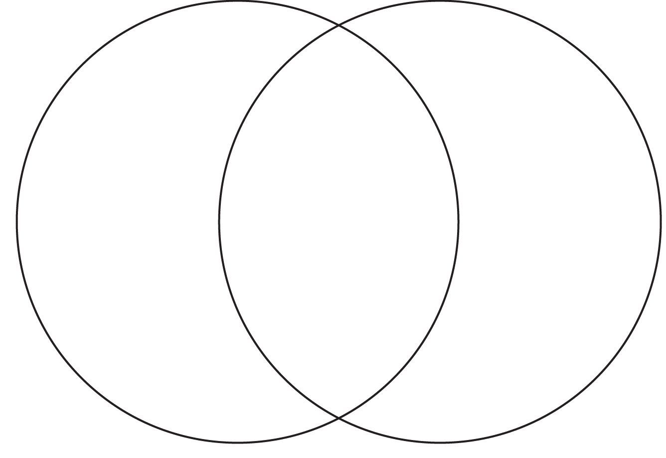 Gratifying image pertaining to blank venn diagram printable
