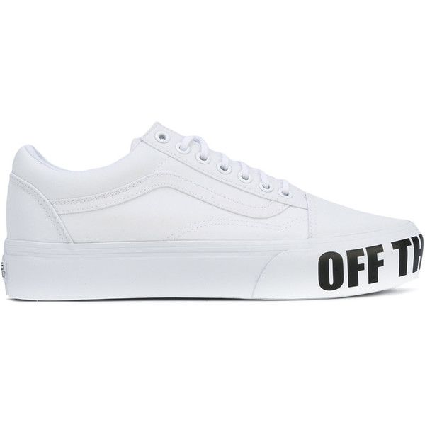 vans old skool white polyvore