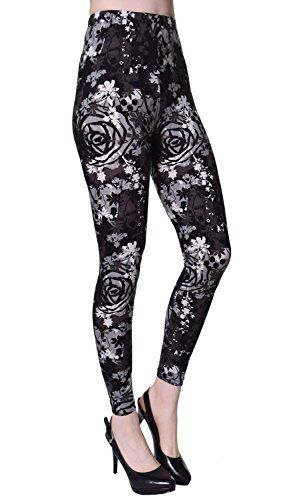 0fb53ca839607 VIV Collection Plus Size Printed Leggings (Chromatic Splash) at Amazon  Women's Clothing store: