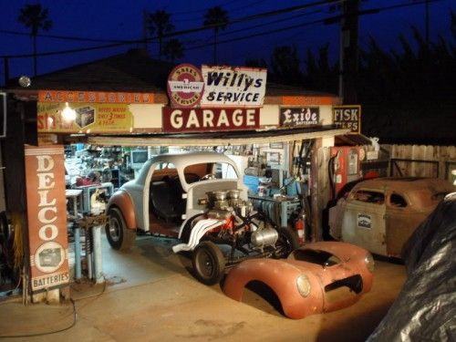 Nevrlift Backyard Hot Rod Shop Car Model Garage Plastic Model Cars