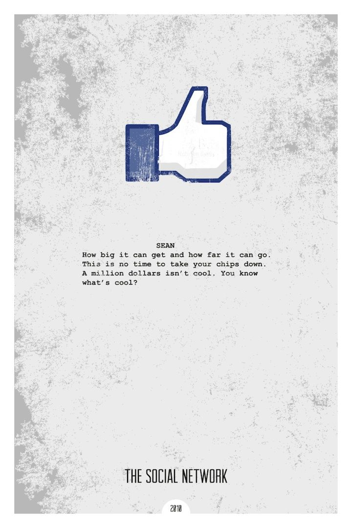 New Minimalist Movie Posters with Iconic Quotes | Facebook, The ...