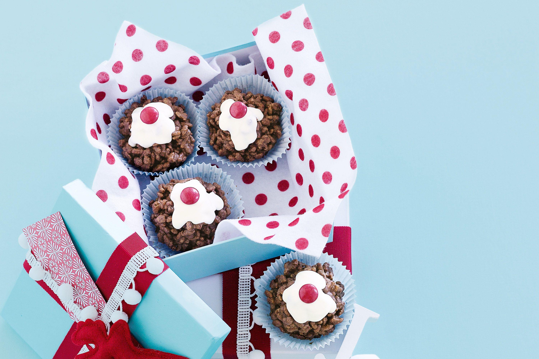 Christmas crackle puddings Chocolate christmas pudding