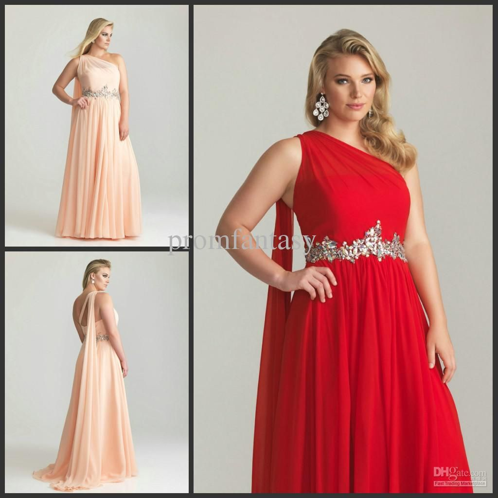 Wholesale flowy train bling crystals plus size one shoulder