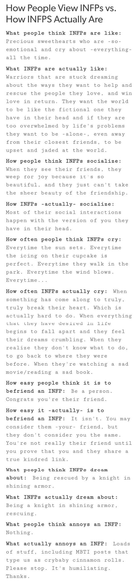 Pin by Cara M on mbti - infp | Pinterest | INFP, Personality and