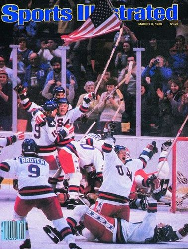 Miracle On Ice Voted Si S Most Iconic Cover Of All Time Olympic Hockey Sports Illustrated Hockey Teams
