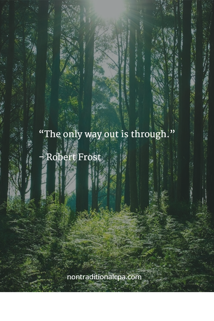 The Only Way Out Is Through Robert Frost Signs