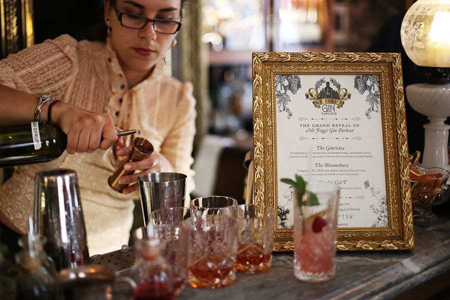 Mr Fogg's Gin Parlour, Covent Garden Vintage bar, Covent