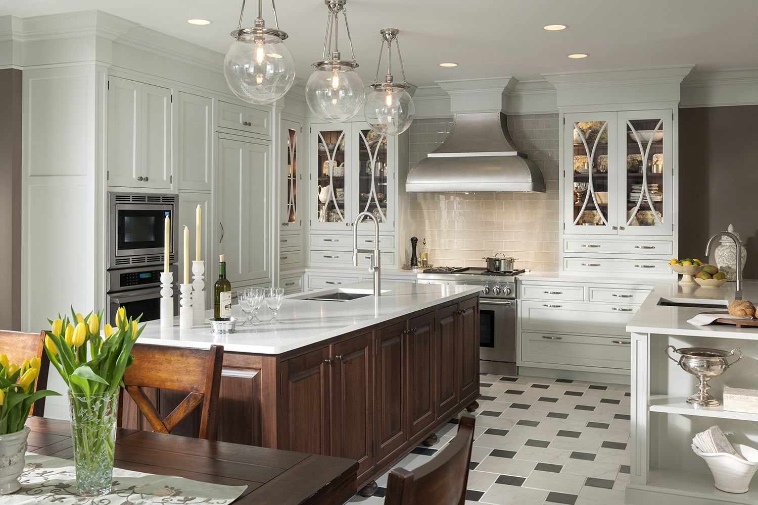 Embassy Row Kitchen By Woodmode Shown In Putty And Classic Walnut Finishes On Alexandria Door Style Wood Mode Kitchen Renovation Kitchen Design