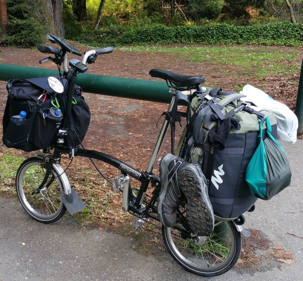 Pin By Leon Webster On Brompton Touring Bicycles Folding