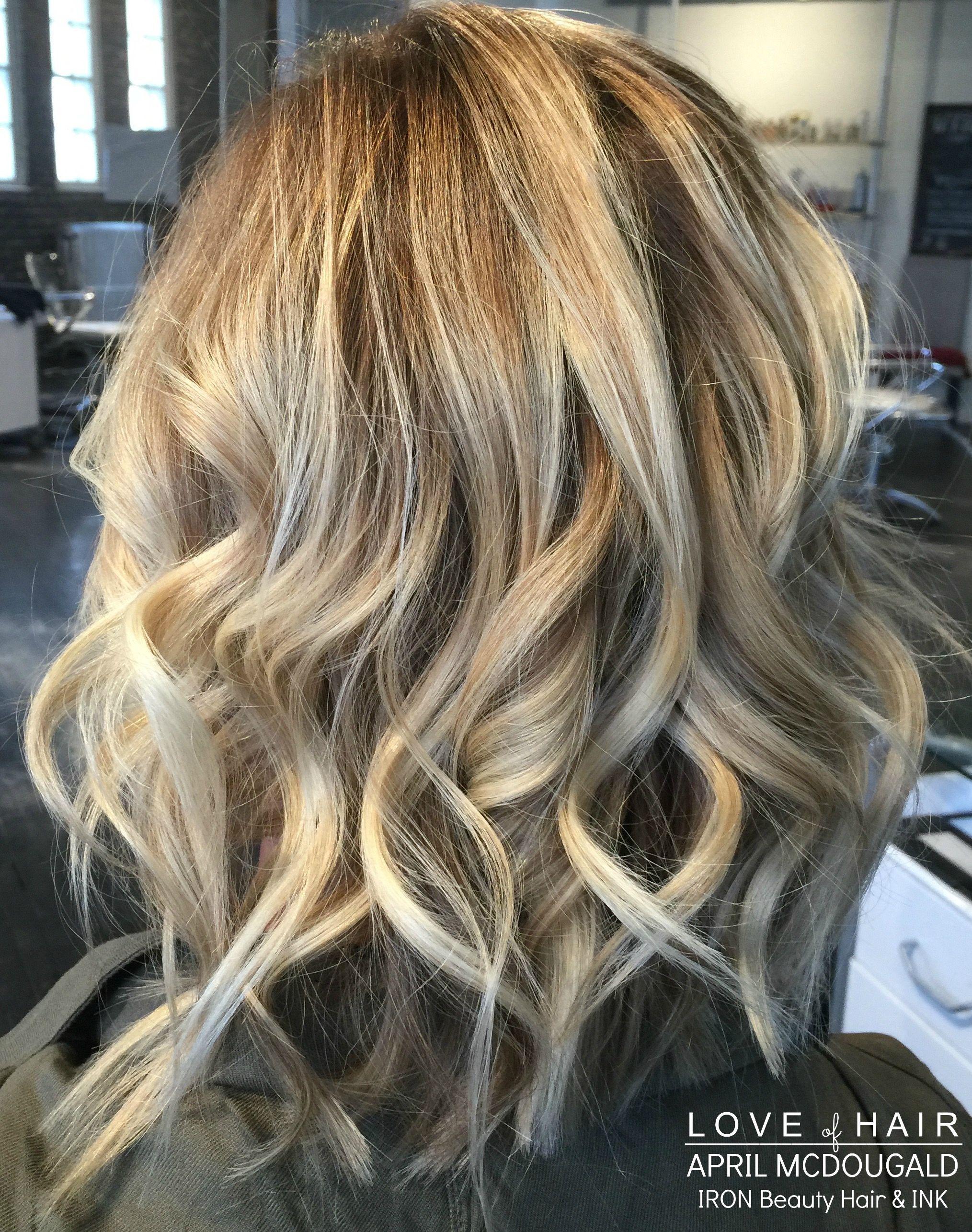 Blonde Hair, Curls, LOB, pretty hair, balayge, highlights, hair