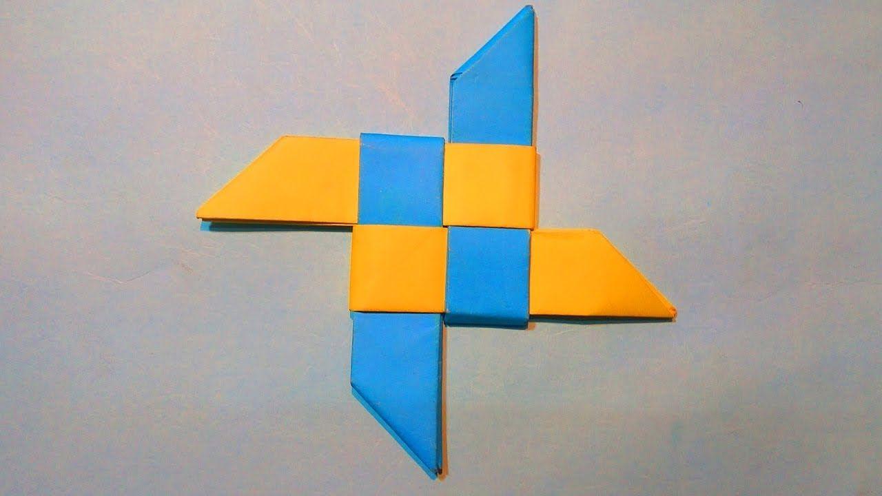 How To Make a New Paper Ninja Star (Shuriken) - Origami Christmas ...