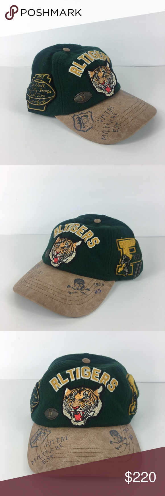 Polo Ralph Lauren Varsity Letterman Tigers Hat Polo Ralph Lauren Varsity  Letterman Tigers Football Hat Cap 6a611b2b6ca