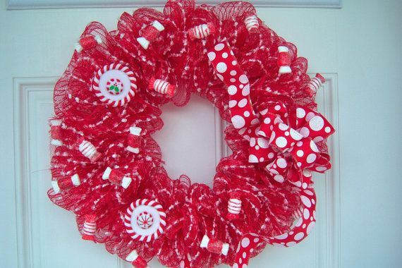 Whimiscal Candy Christmas Wreath by ThePrincessLoft on Etsy