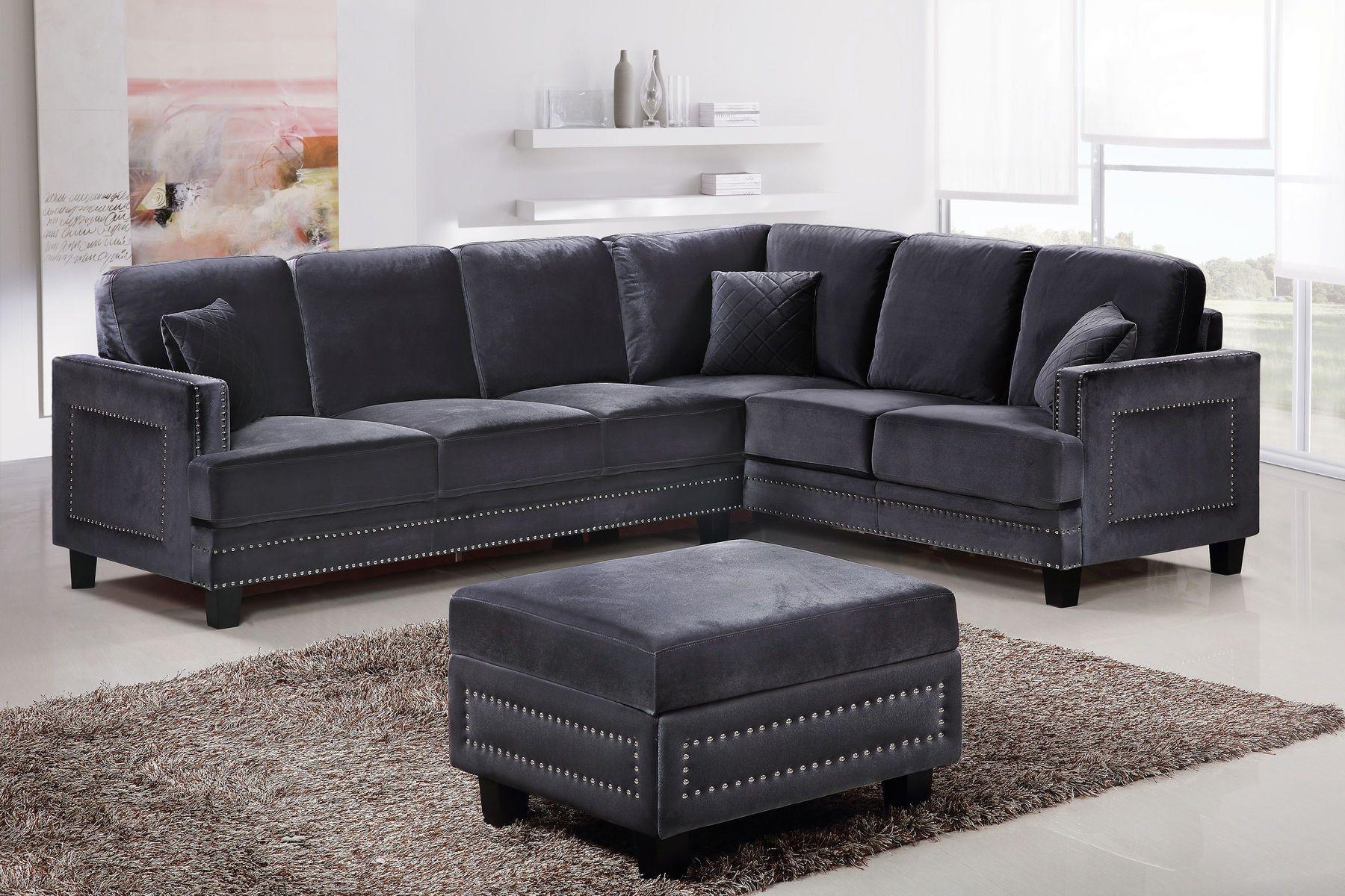 Ferrara Gray Sectional Sofa Modern Sofa Sectional Contemporary Sectional Sofa Sectional Sofa