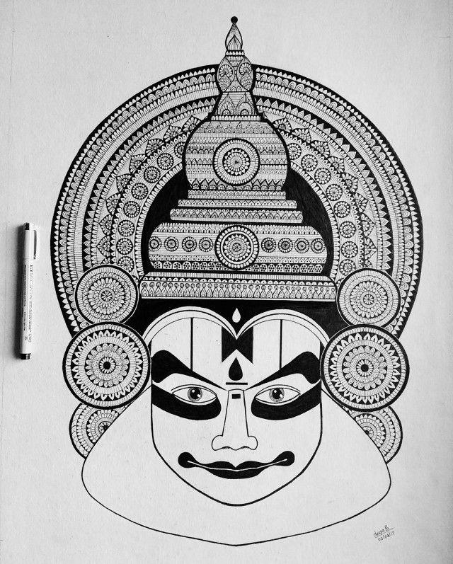 Image Result For Kathakali Mandala Design Art Mandala Art Lesson Mandala Art