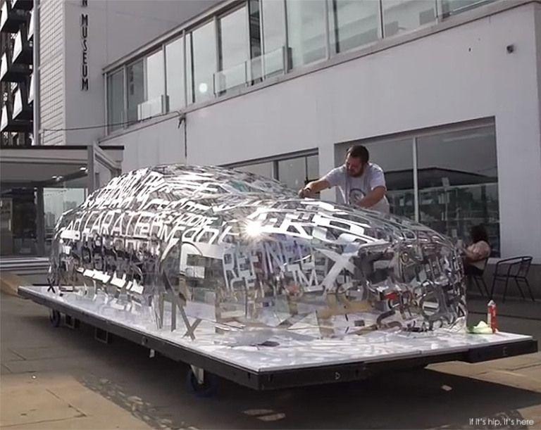 A Jaguar Xe Built Of 95 Aluminum Words In 7 Languages Art