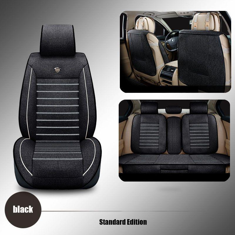 linen Universal car seat cover For Dacia Sandero Duster