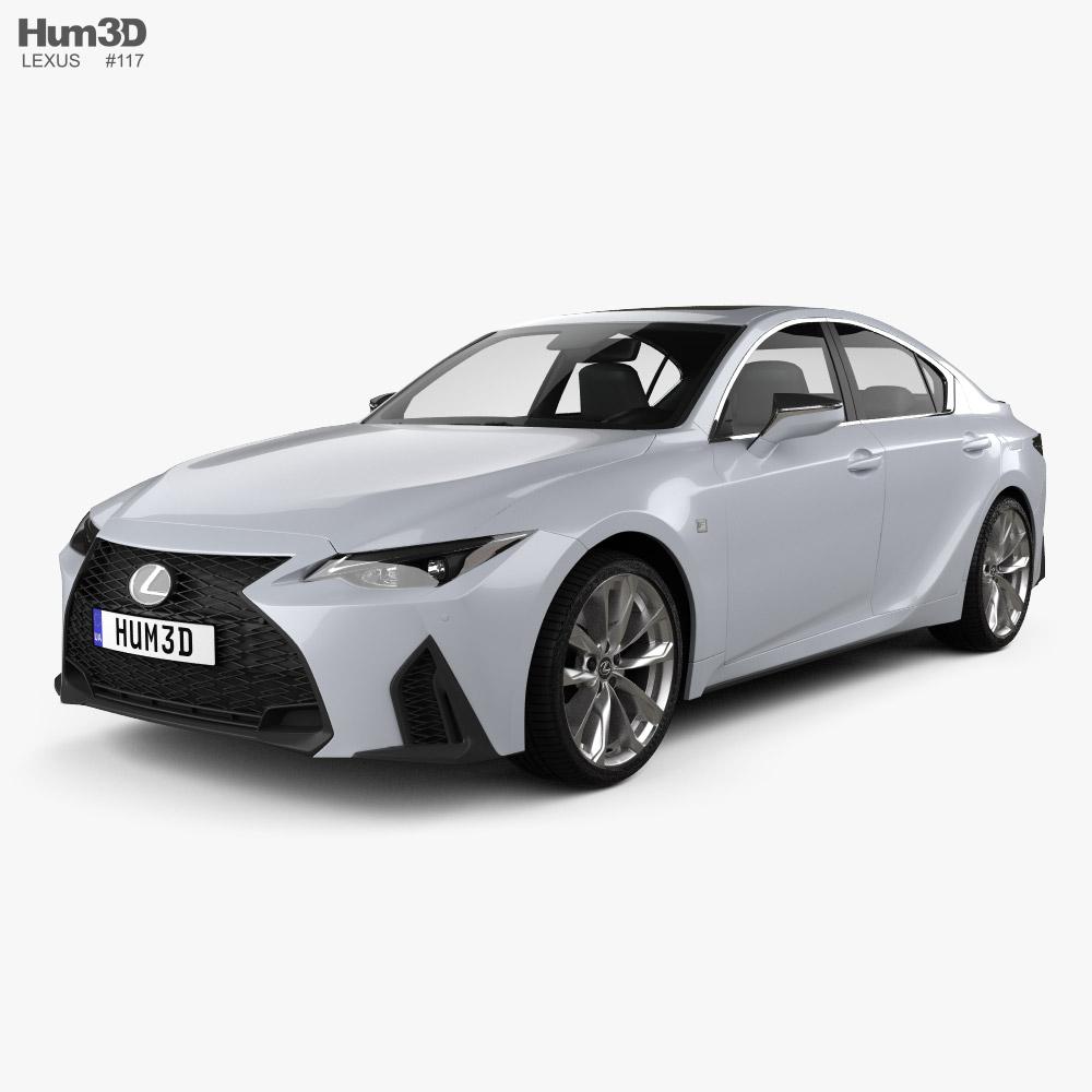 3d Model Of Lexus Is F Sport 2021 In 2020 Lexus 3d Model Lexus Is300