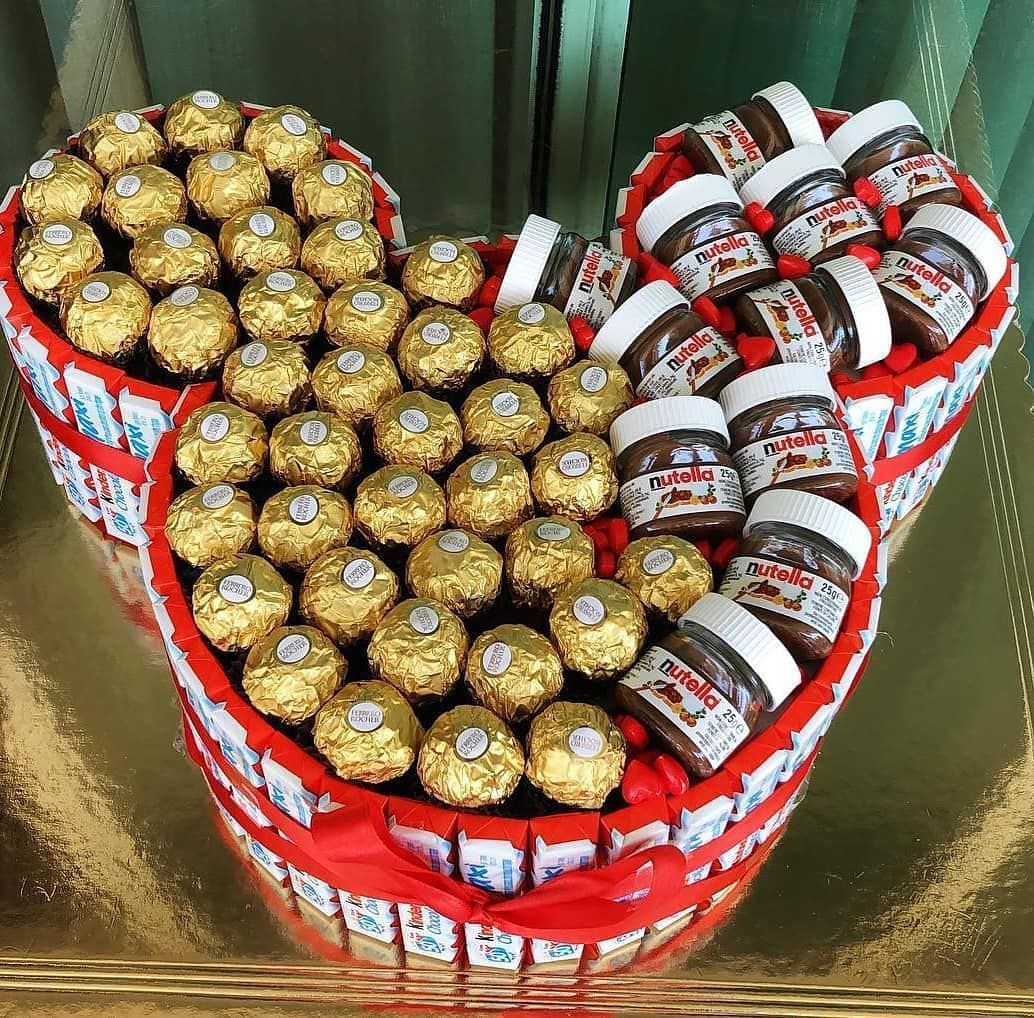 Mickey Gift Box Full Of Ferrero Nutella And Box Is Made