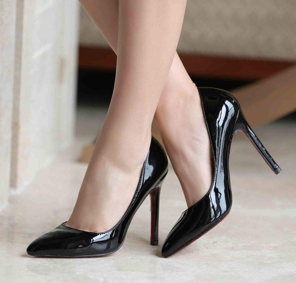 sexy bride pointed toe high heels shoes nude black red. Black Bedroom Furniture Sets. Home Design Ideas