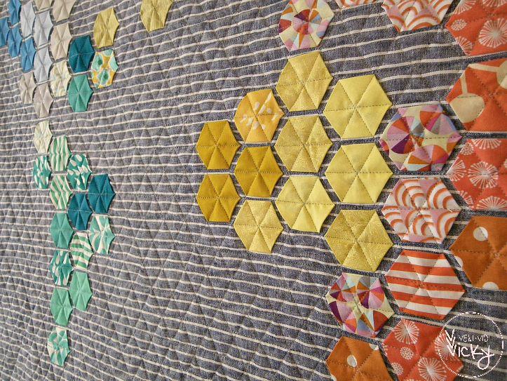 it's a hexi world – a rainbow hexagon world map quilt | Map quilt ... : map quilt pattern - Adamdwight.com