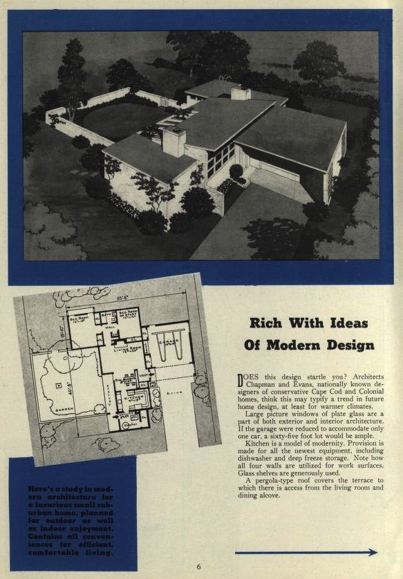 Blueprint Plans From American Builder Magazine American Builder Magazine Free Download Borrow And Streaming Internet Archive Vintage House Plans Mid Century Modern House House Plans