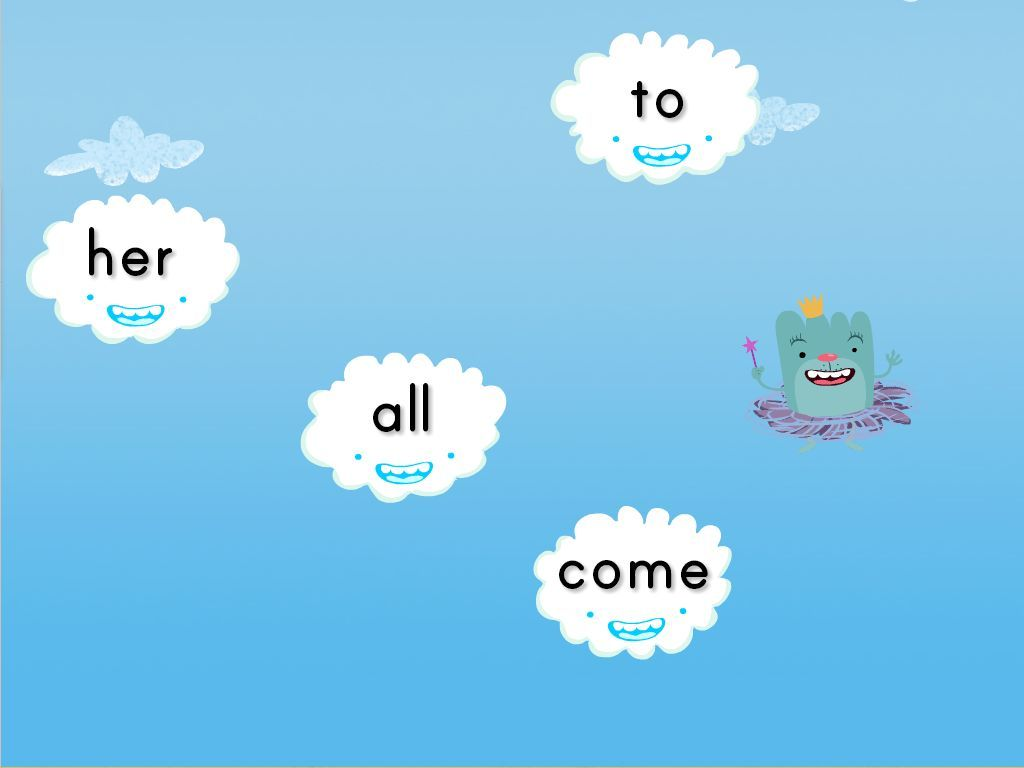 Sight Words Cloud Catcher - Reading Game   Education   Pinterest