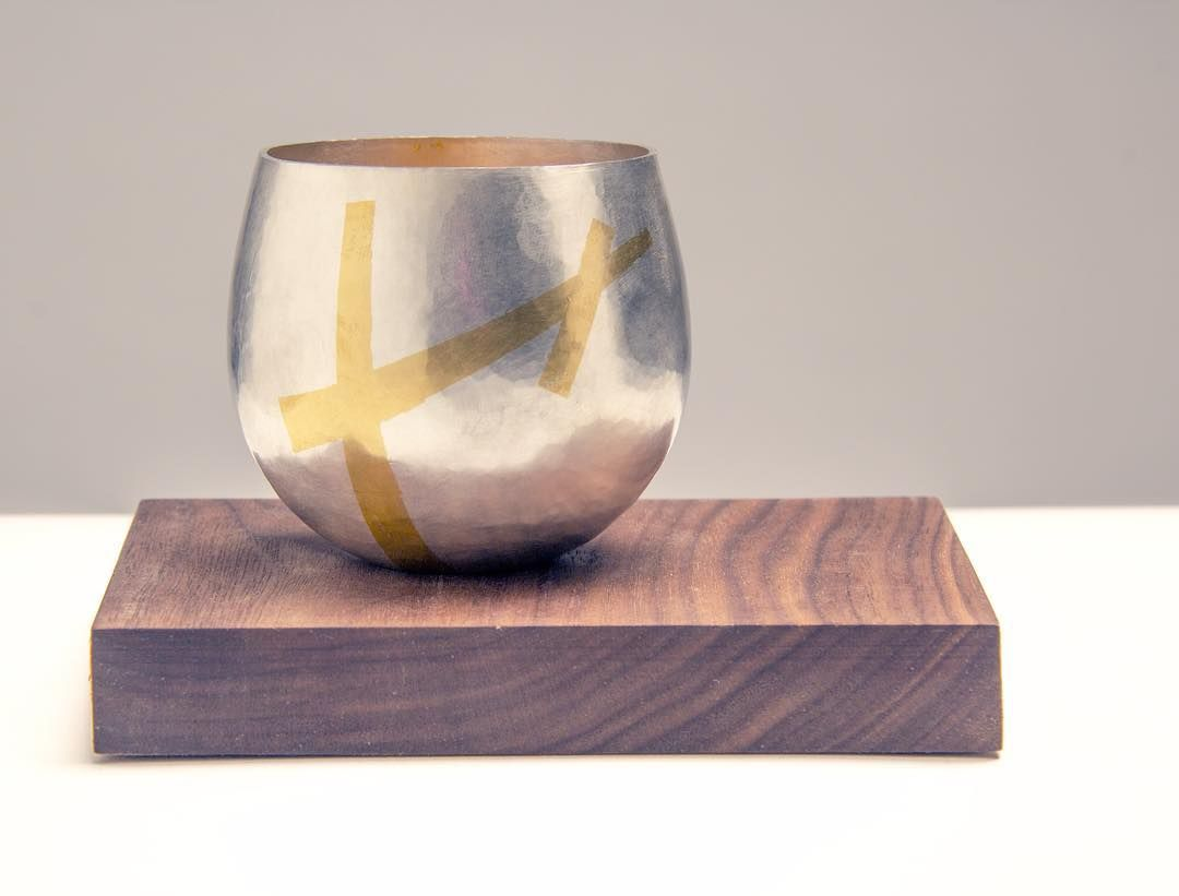 Teetassen Aus Glas Sandra Wilson Whisky Tumbler With Keum Boo 22ct Gold Foil Detail