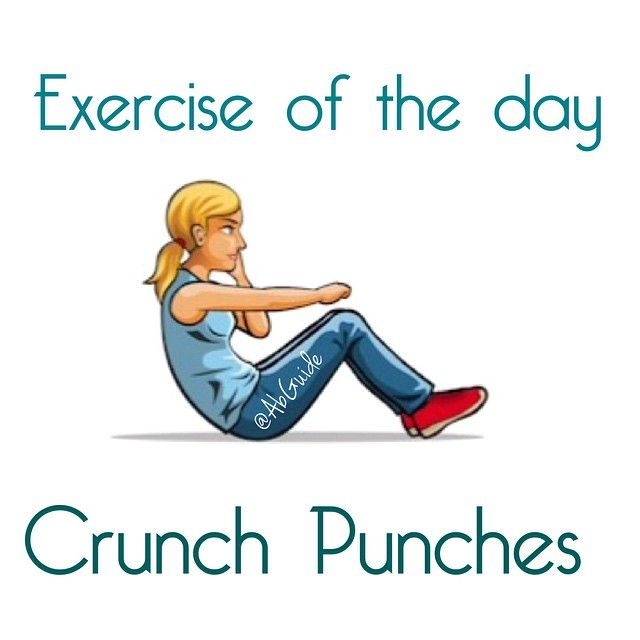 Exercise Of The Day Crunch Punches Step 1 Lie Flat On The Floor With Your Knees Bent Your Feet Should Be Flat On The Ground T How To Get Abs Exercise Abs
