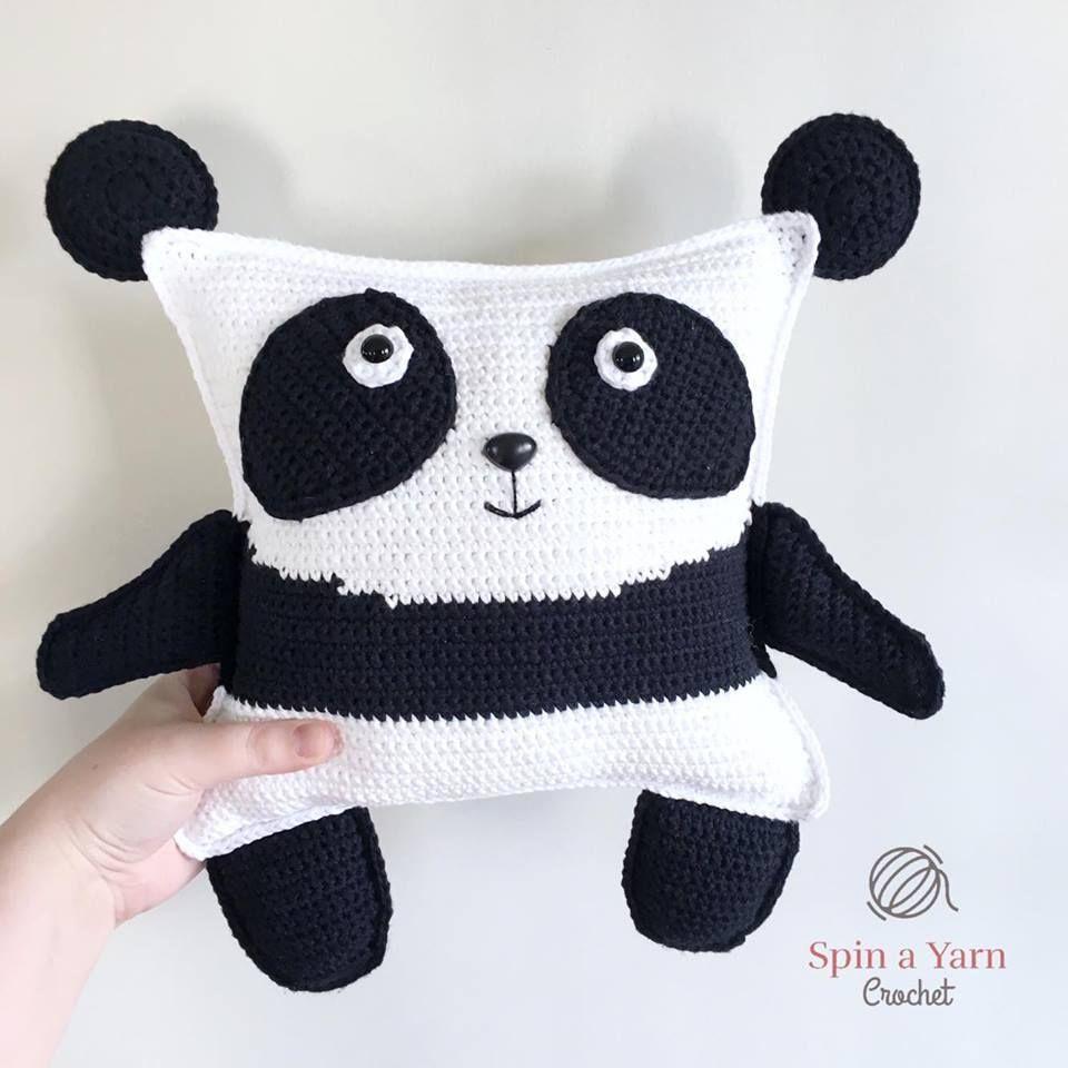 Pudgy Panda Plushie Free Crochet Pattern Amigurumi Crochet