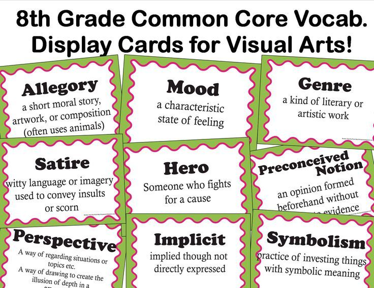 Elements and Principles of Art Display Cards from Artful ...  |Common Art Terms