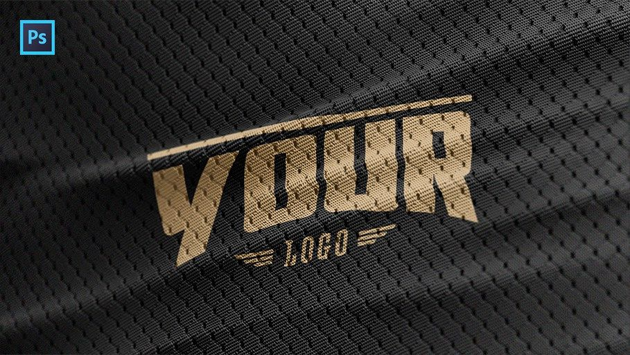 Sports Jersey Texture Psd Logo Mockup Logo Mockup Free Logo Mockup Psd Photoshop Logo