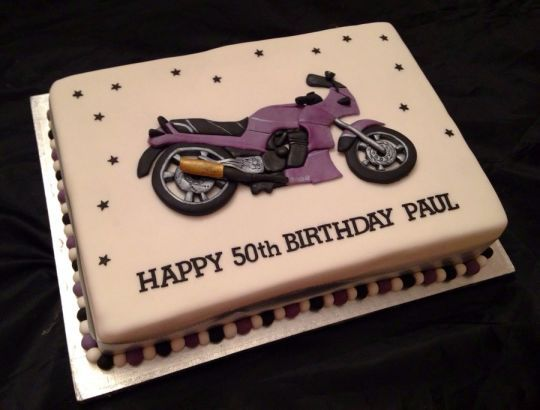 2d Motorcycle Birthday Cake With Images Motorcycle Birthday