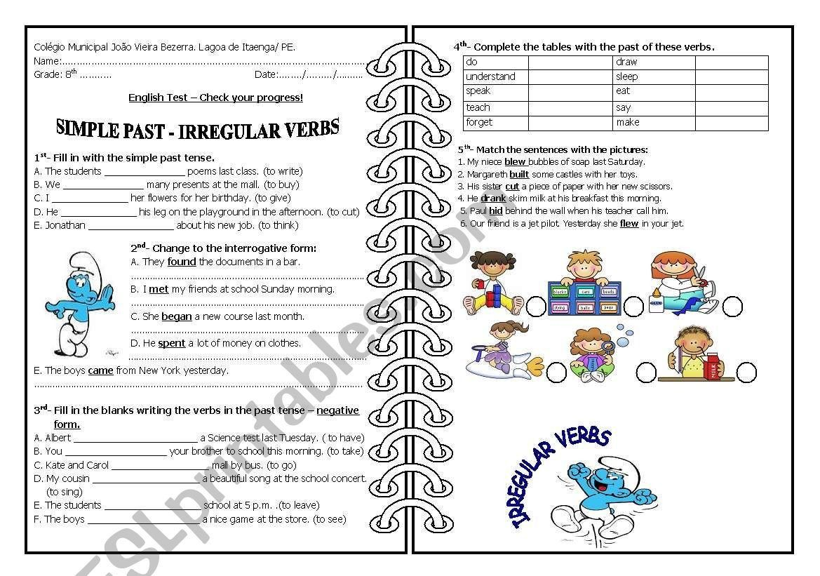 small resolution of Irregular Verbs Worksheet 2nd Grade Past Simple Irregular Verbs Esl  Worksheet by 5839 in 2020   Verb worksheets