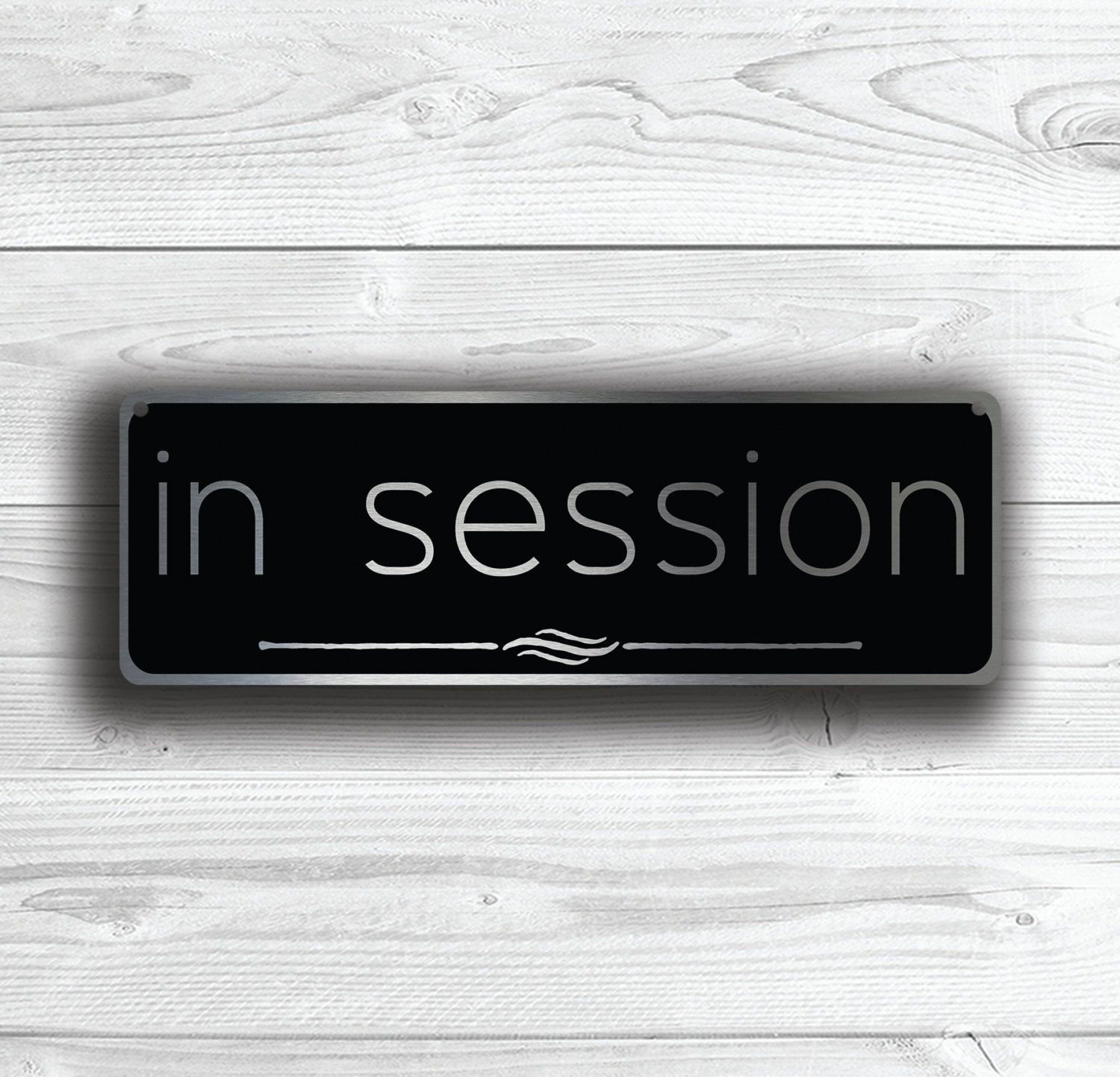 in session door sign