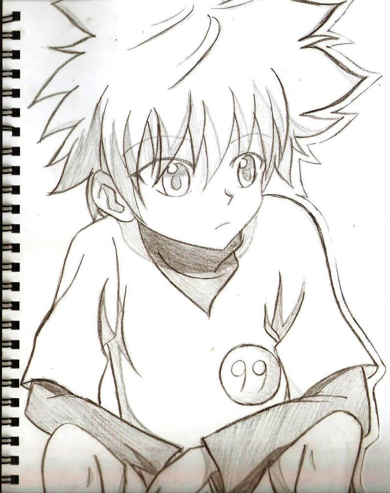 Killua Traditional Art By Xxdaisuki Koixx Desenhos De Anime