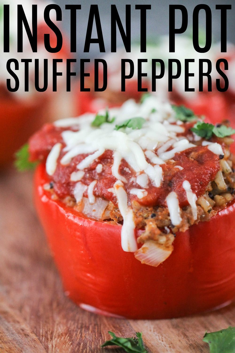 Easy Instant Pot Stuffed Peppers Healthy Recipe Recipe Stuffed Peppers Healthy Recipes Recipes