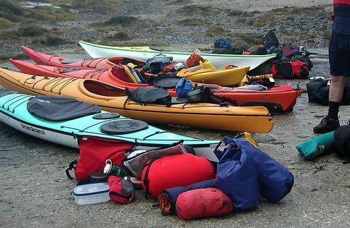 Photo of Packing for kayak camping.