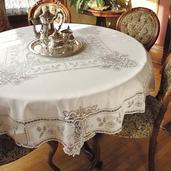 Country Home Table Cloths | Heirloom Round 70u2033 Tablecloth U2013 Heritage Lace U2013  Country .