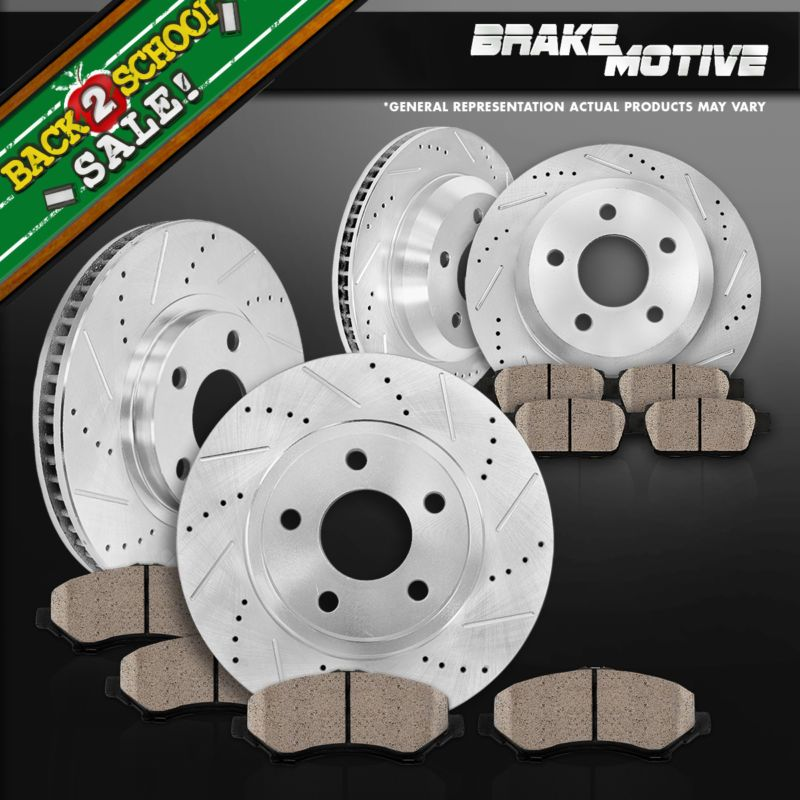 Front Drilled Slotted Brake Rotor Fit Ford Mustang 05-10