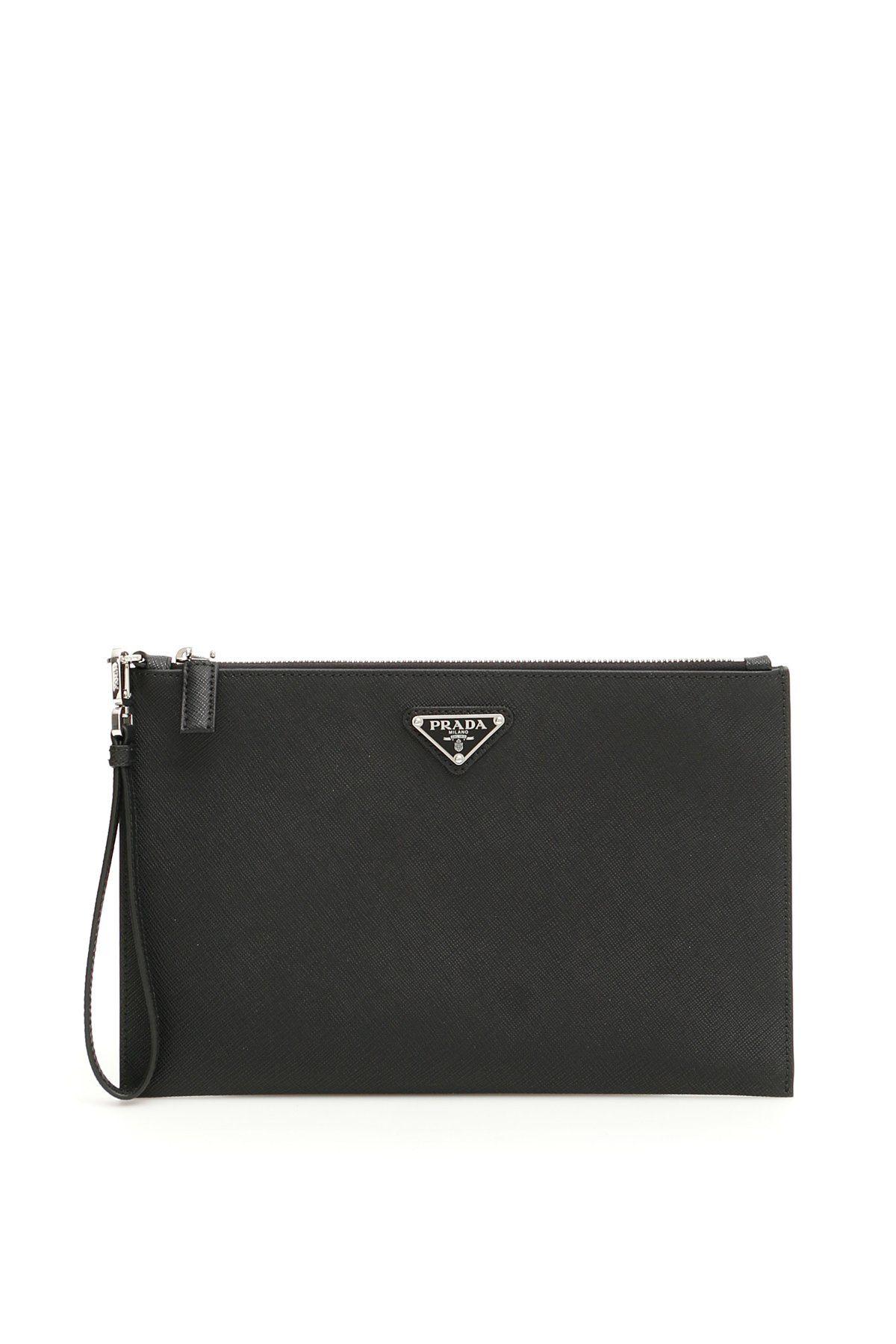 3eb4cd38a55b PRADA PRADA LOGO PLAQUE ZIP CLUTCH BAG. #prada #bags #leather #clutch #hand  bags