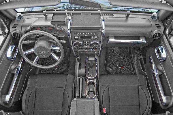 Interior Trim Accent Kit, Chrome; 07-10 Jeep Wrangler JKU