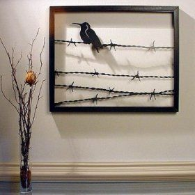 Wire Wall Art bird on a wire' steel wall art sculpture - betterimprovement