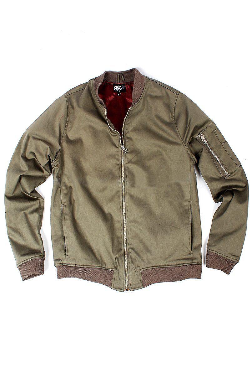 fbdbffe84 Jaqueta Bomber Feminina de Sarja Verde Militar - KING55 Loja de roupas