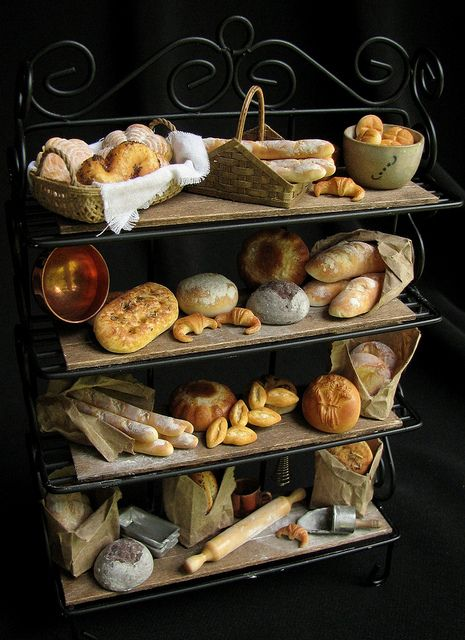 12th Scale Bakers Rack Miniature Food Miniature Bakery Tiny Food