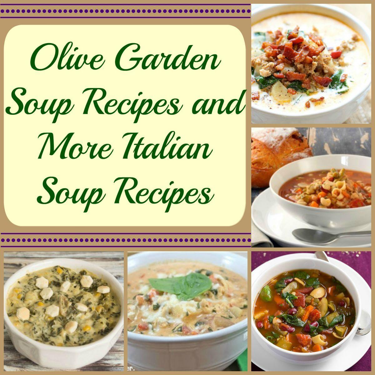 11 Olive Garden Soup Recipes Food recipes, Italian