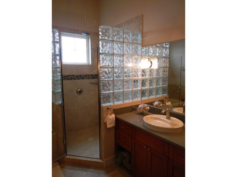 Glass Block Shower Wall. Stylish Glass Block Windows Shower Wall .